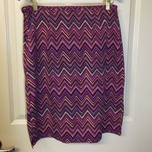 St. John's Bay Chevron Print Skirt